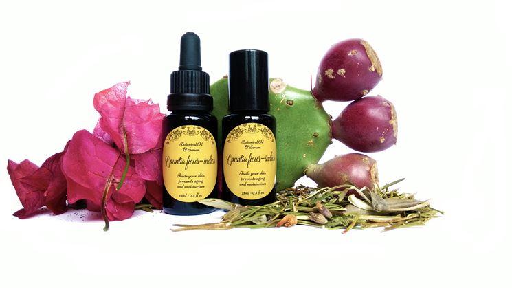 Olio cosmetico di semi di fico d'india