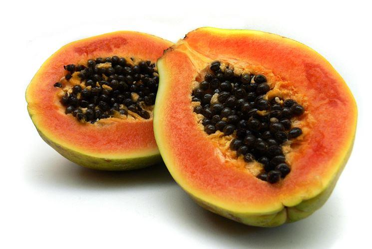 Interno della Papaya matura