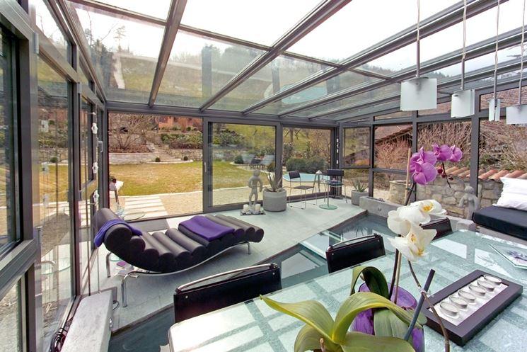Esempio di veranda adibita a serra