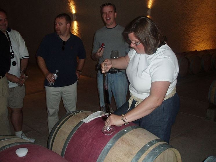 Degustazione di un vino prelevato dalla barrique