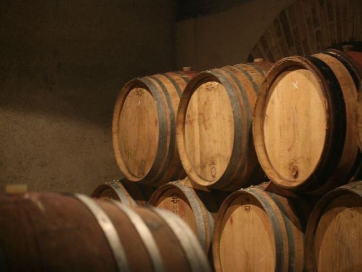 Barriques per l'invecchiamento del vino