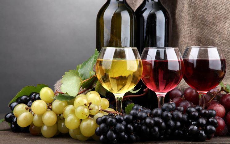vino bianco e nero