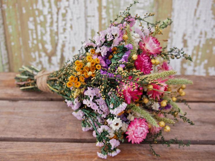 centrotavola fiori secchi