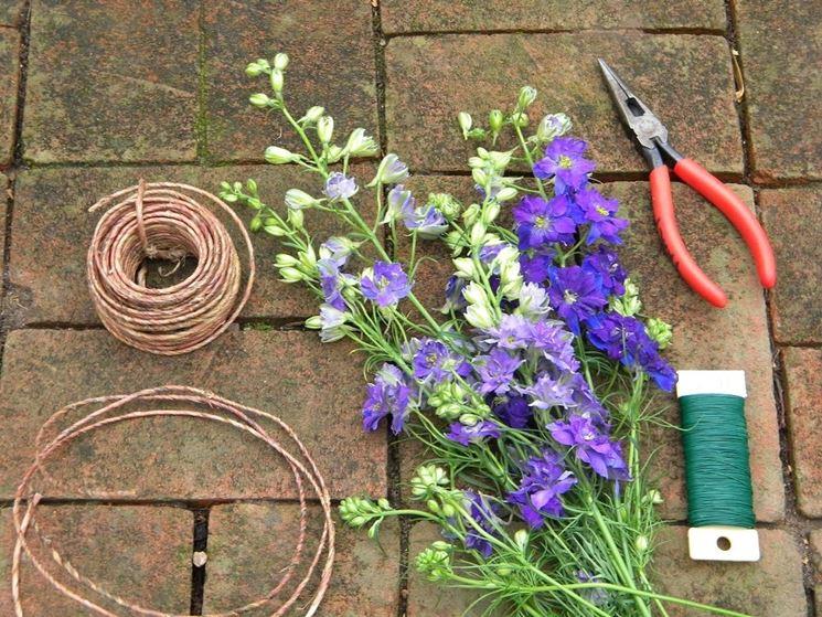 ghirlanda fiori secchi