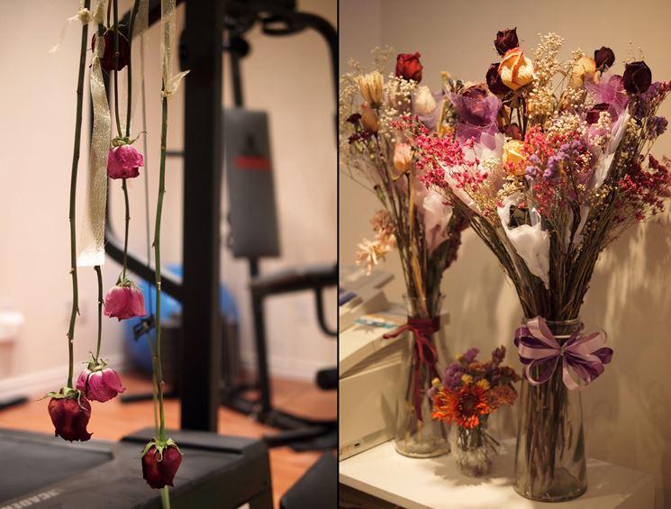 essicazione fiori con sabbia