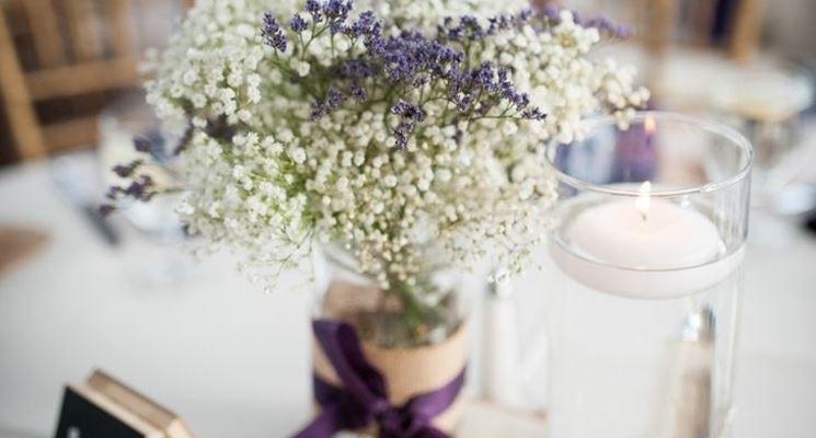 composizione fiori secchi lavanda