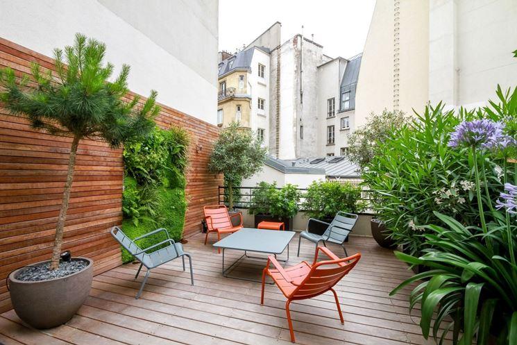 giardino in terrazzo