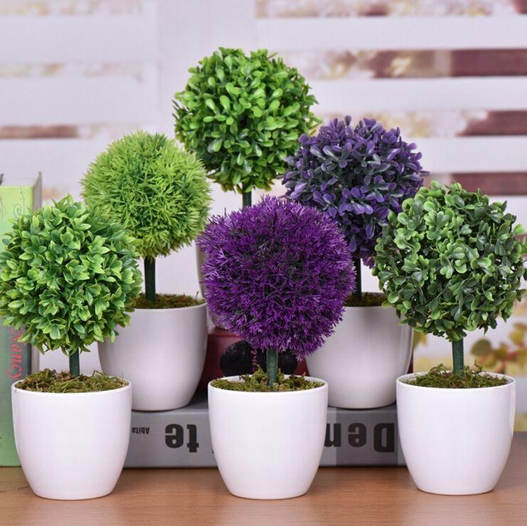 piccole piante artificiali