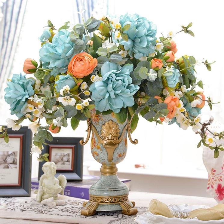 fiori finti in vaso