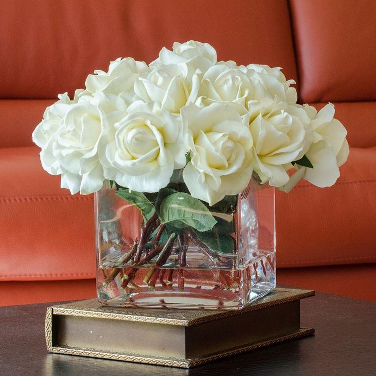 rose bianche finte