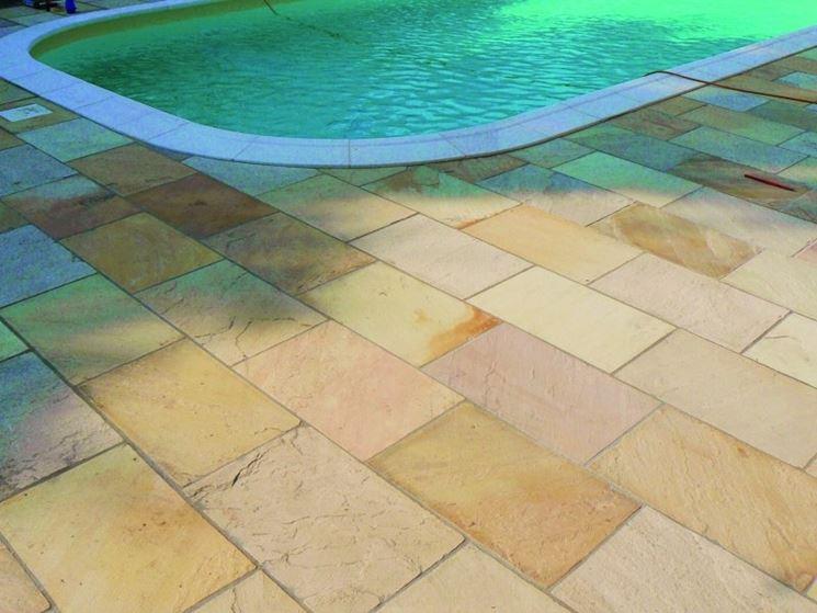 Piastrelle per bordo piscina in ceramica monocottura