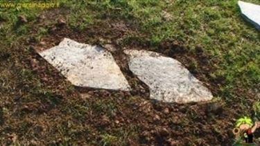 camminamento in pietre