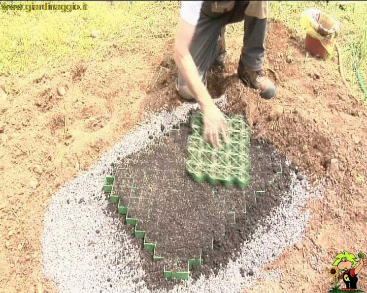 Preparare un parcheggio con erba video tecniche giardinaggio